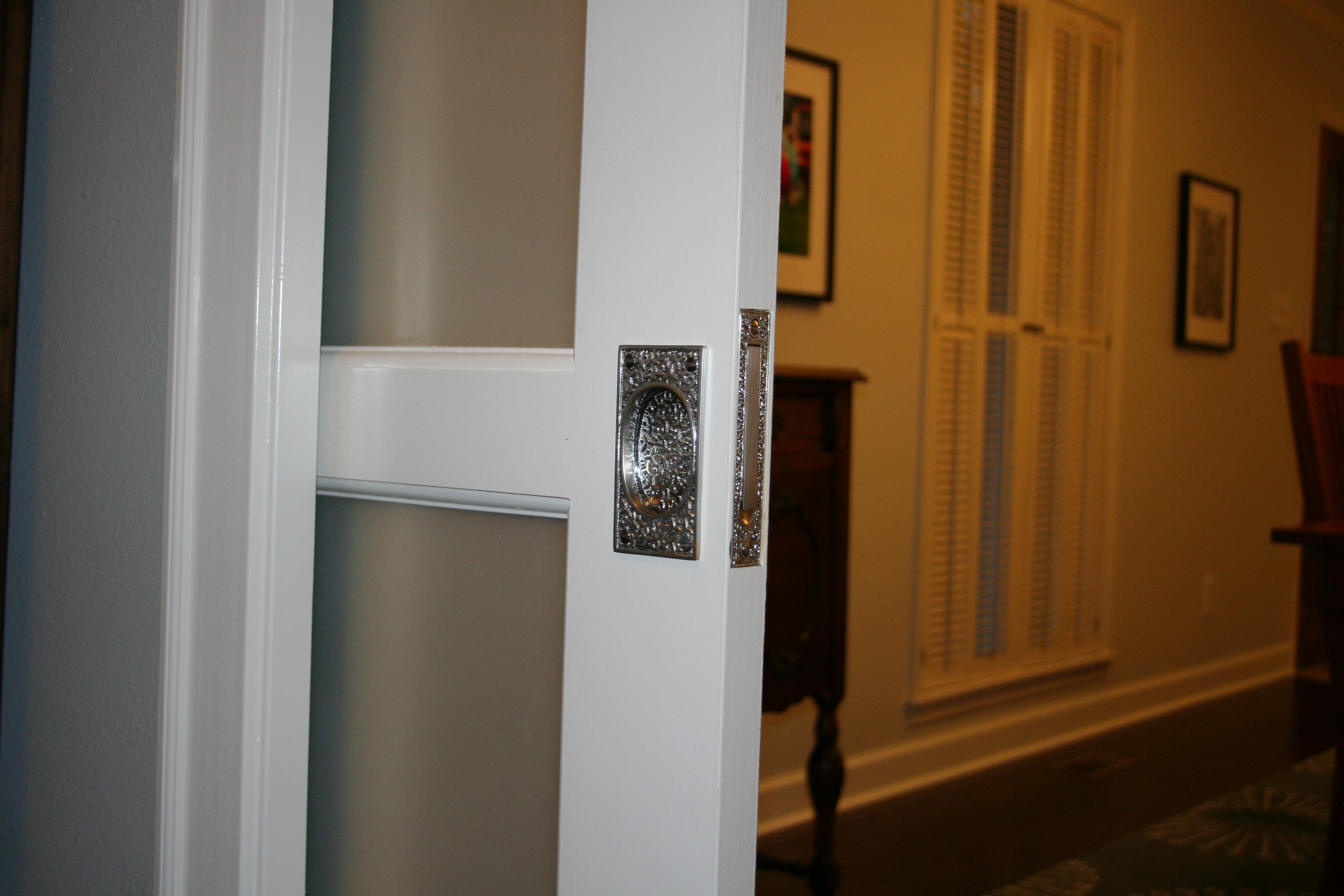 Rocky Valley Dining Room Pocket Door Hardware Installed